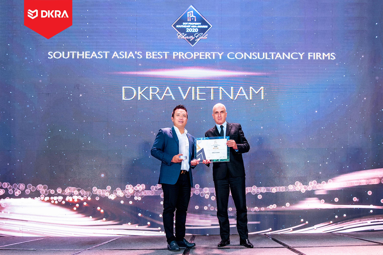 """DKRA Vietnam """"Đơn vị tư vấn phát triển dự án tốt nhất Đông Nam Á"""" do Dot Property Southest Asia Awards trao tặng 2020"""