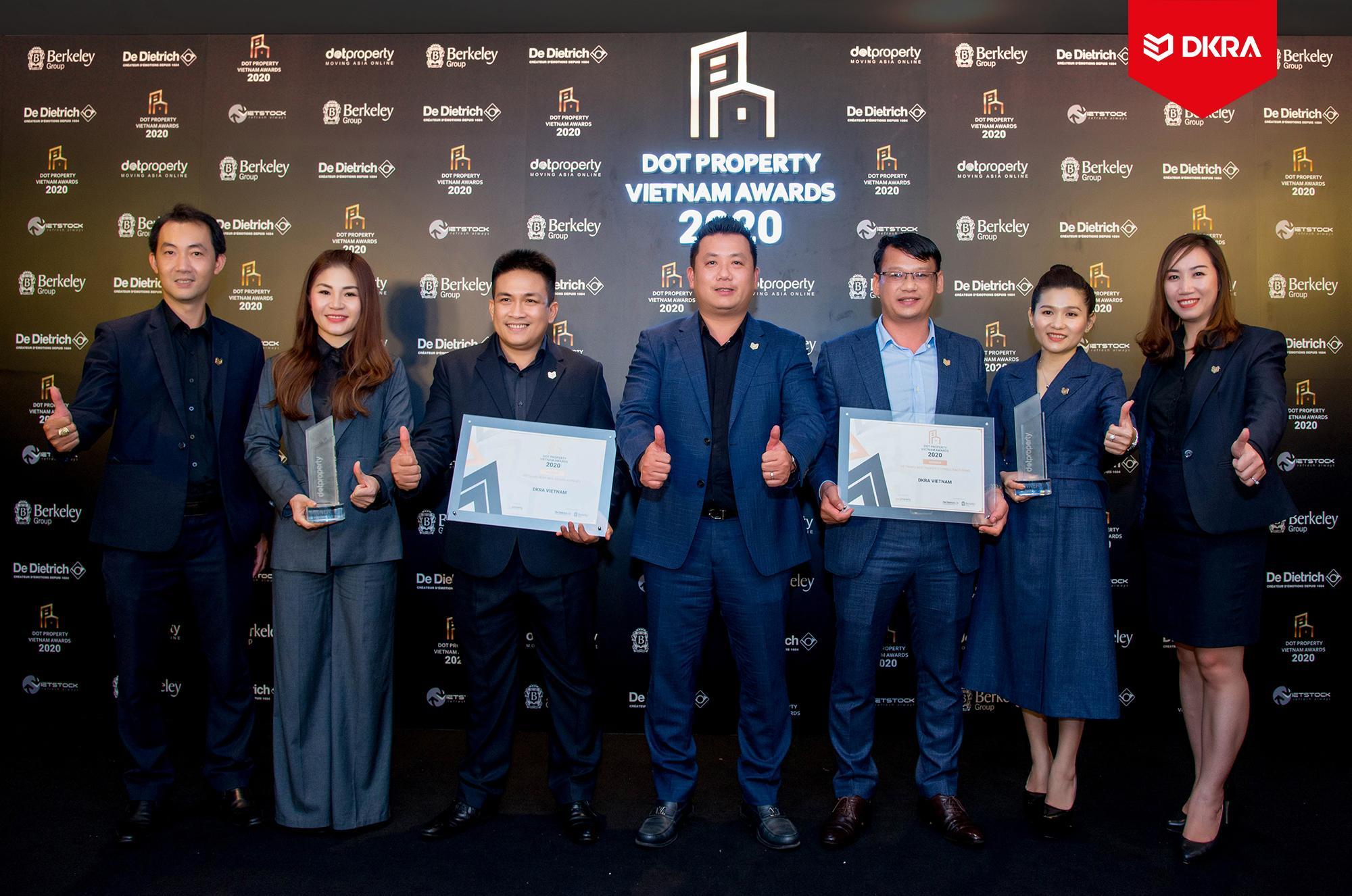 """DKRA Vietnam giữ vững phong độ và bức phá với """"cú đúp"""" giải thưởng Dot Property Vietnam"""