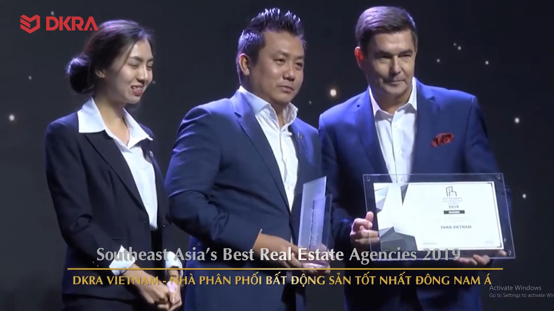 """DKRA Vietnam đạt giải """"Nhà Phân Phối BĐS Tốt Nhất Đông Nam Á năm 2019"""""""
